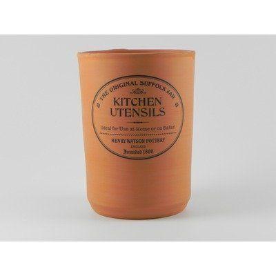 Original Suffolk Terracotta Utensil Jar By Henry Watson