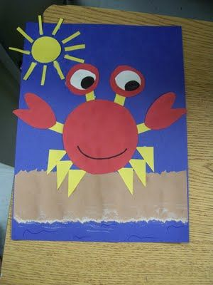 cute crab - fun with shapes!!