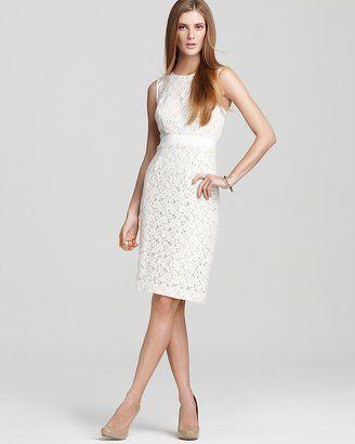 ShopStyle: BCBGMAXAZRIA Dress - Alice Mixed Lace Sheath Dress