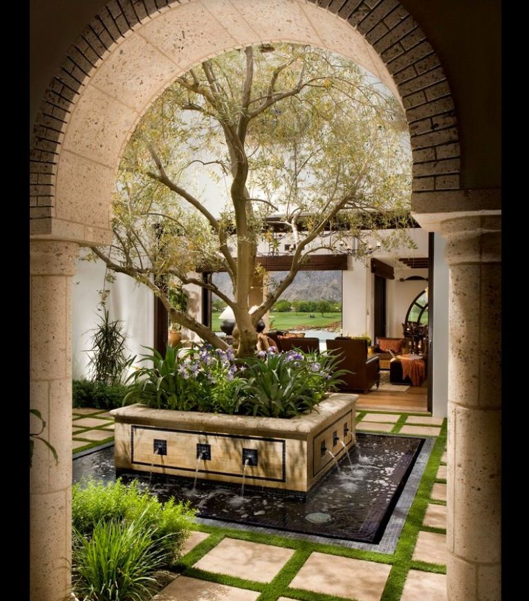 Mediterranean Style Courtyard: New System Home Ideas