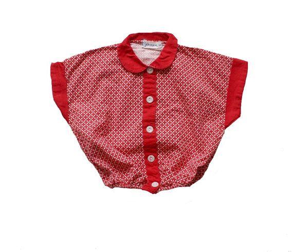 VINTAGE 50's / kids / shirt / blouse / crop by Prettytidyvintage, €25.00