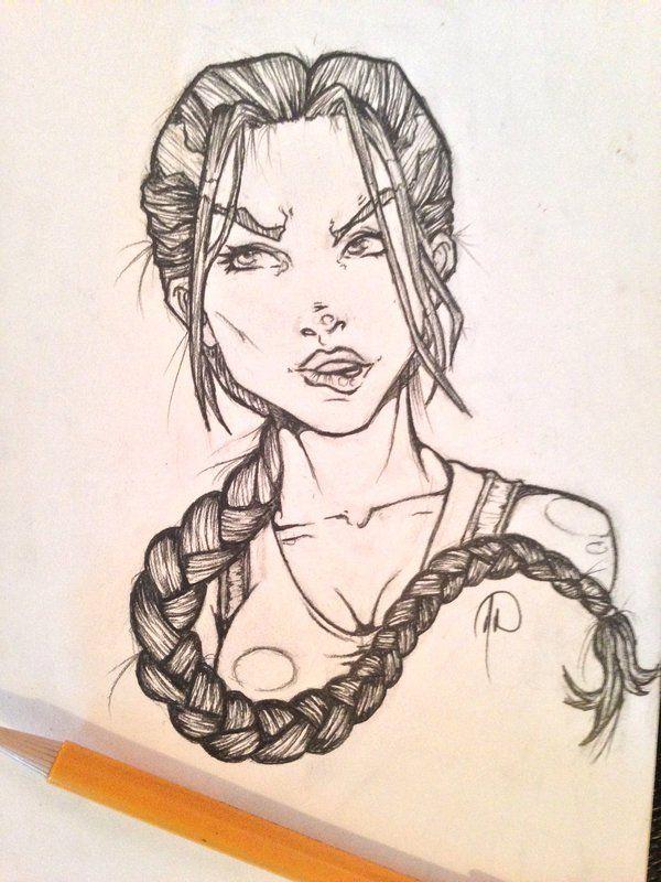 8b00a0b0b0 Lara Croft Tomb Raider Sketch by MelonieMac.deviantart.com on @deviantART