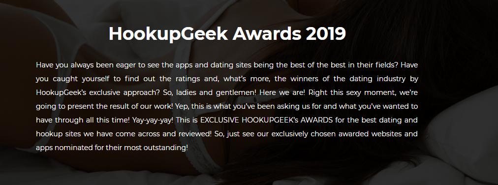 HookupGeek Awards 2019 Hook Up Geek Dating sites