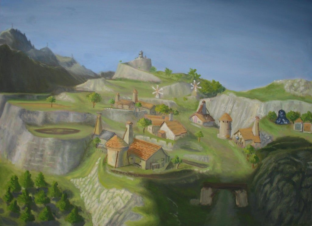 I Painted Hateno Village From Breath Of The Wild Gaming Breath Of The Wild Legend Of Zelda Legend Of Zelda Breath
