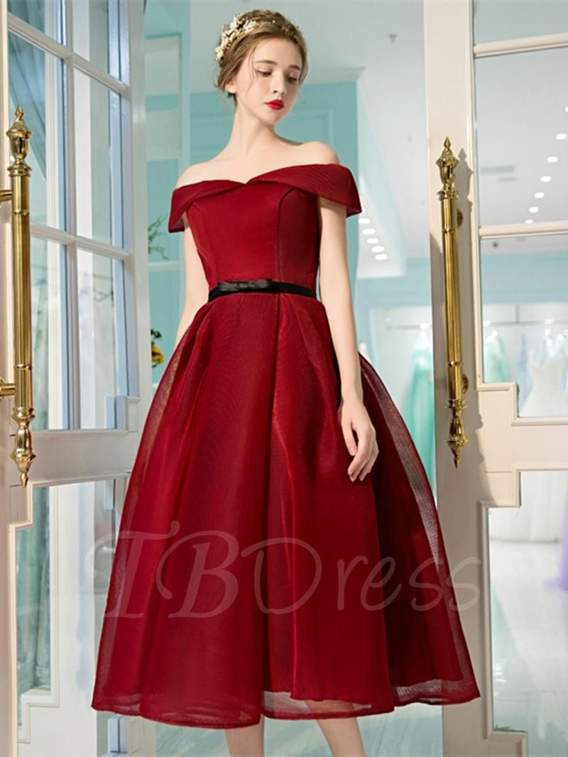 Aline offtheshoulder sashes bowknot prom dress pinterest prom