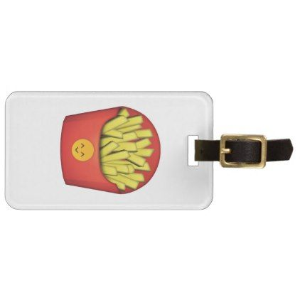 french fries emoji bag tag luggage tags bags luggage bags emoji pinterest