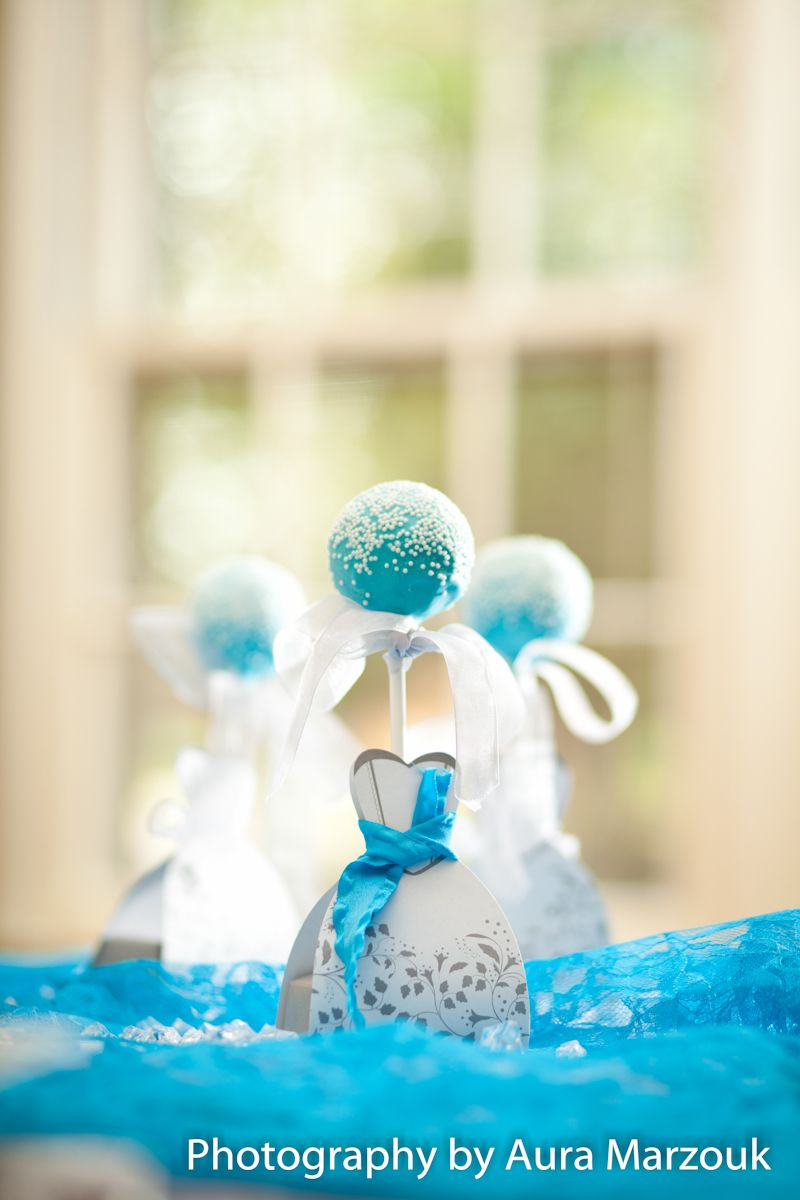 Blue Cake Pop Favors. #WeddingFavor #Wedding | Aishiteru Mariage ...