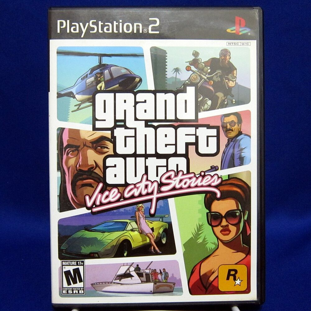 Ps2 Sony Playstation 2 Grand Theft Auto Vice City Stories Gta Complete Tested Rockstargames Grand Theft Auto Theft Playstation 2