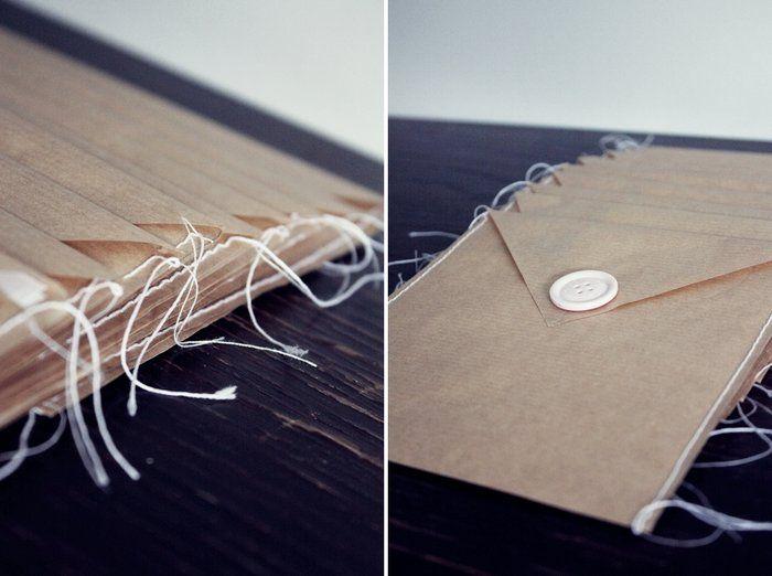 Cute idea to make own envelopes