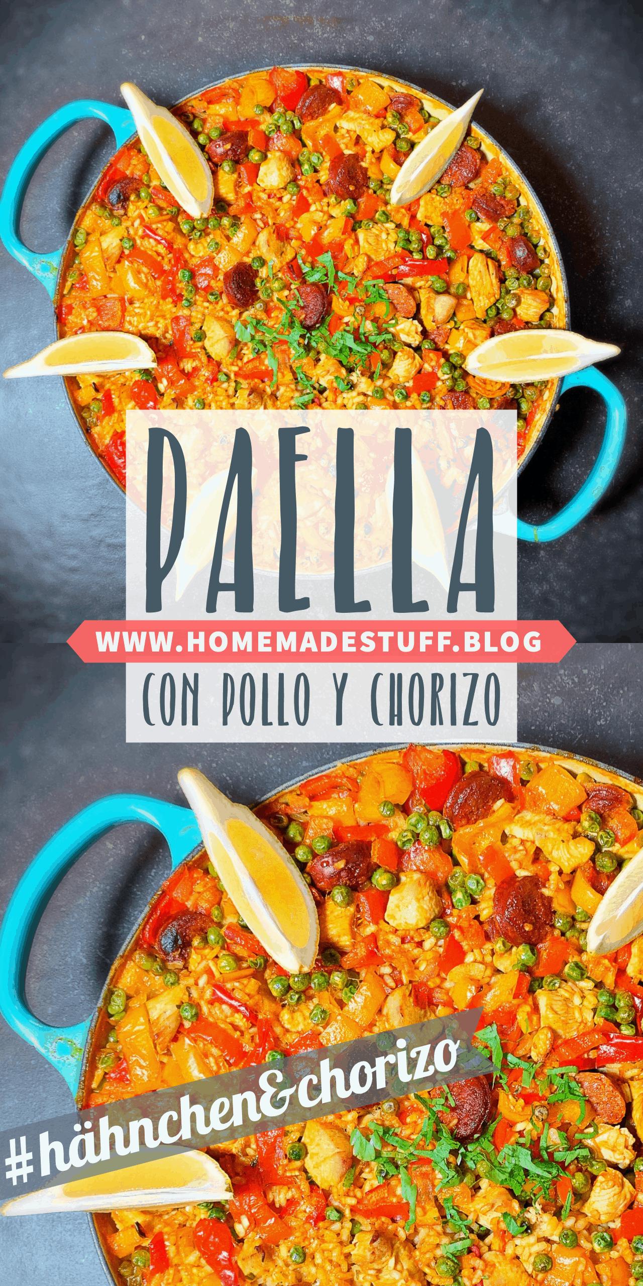 Paella mit Hähnchen und Chorizo