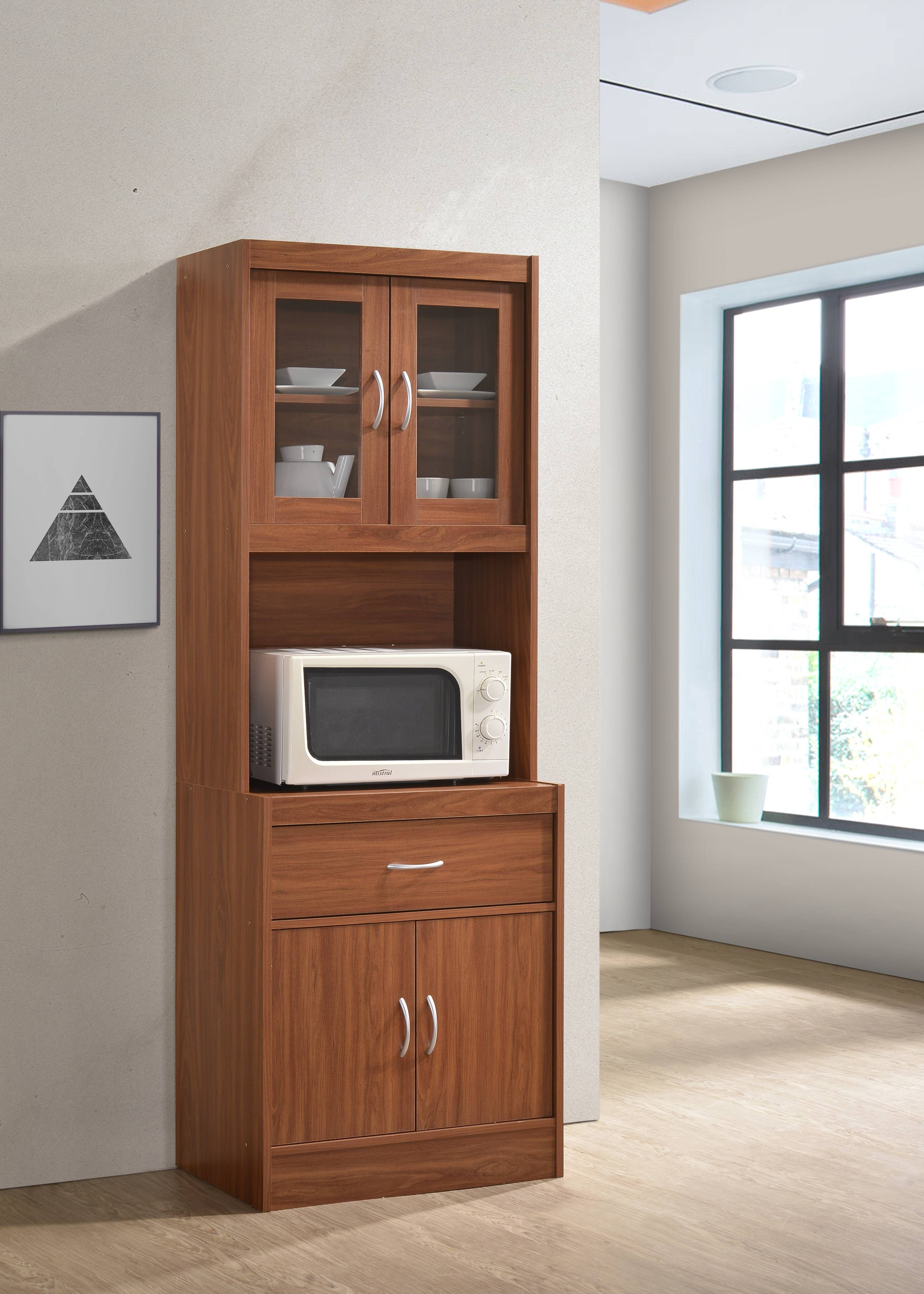 Hodedah Modern Kitchen Cabinet Cherry Walmart Com In 2020 Modern Kitchen Cabinets Modern Kitchen Kitchen Cabinets