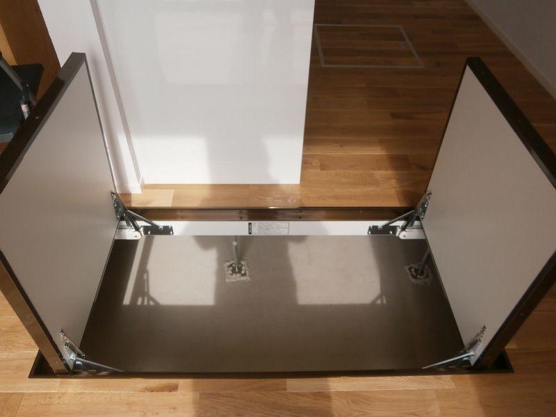基礎断熱工法していると床下はまるまる収納として使える 床下収納