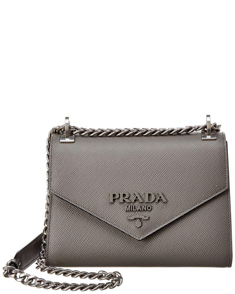 76c482b69b Prada Monochrome Saffiano Leather Satchel