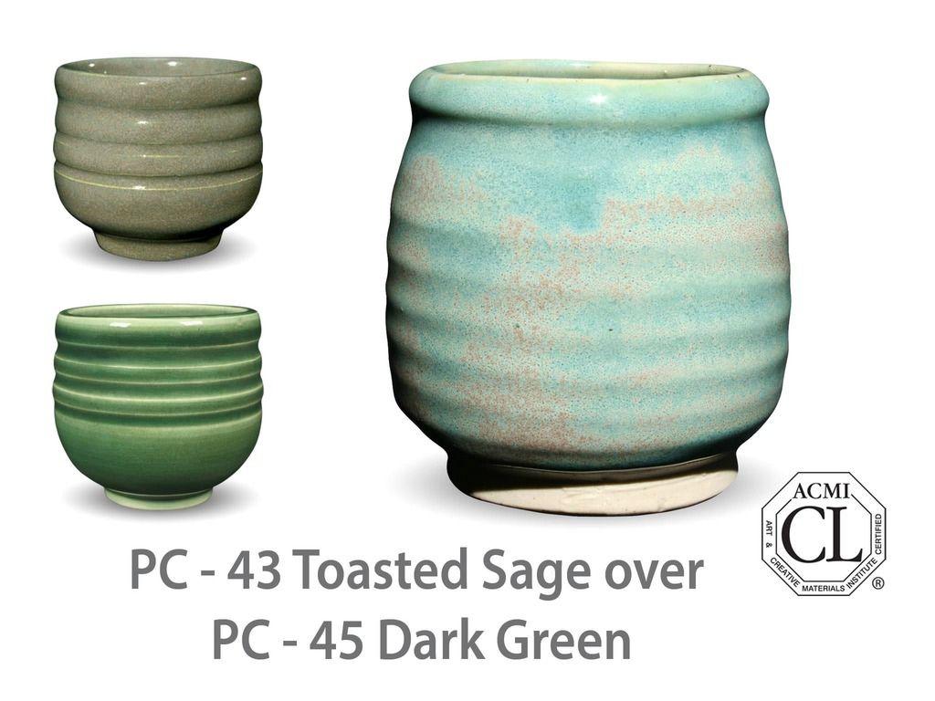 Pc 45 Dark Green Glazes For Pottery Ceramic Glaze Recipes Glaze