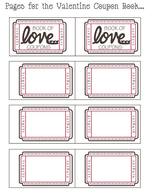 Mommy by day Crafter by night {Free Printable} Valentine Coupon - free coupon book template