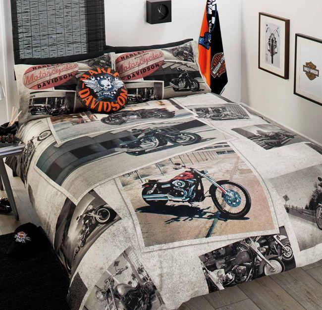 Harley davidson bedroom decor harley pinterest for Decoration maison harley davidson