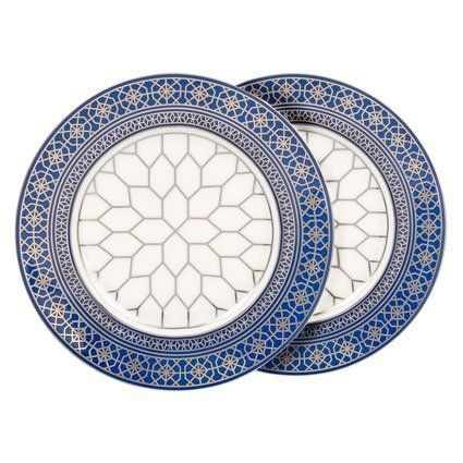 Jaipur Peacock Blue Plate Pair By Waterford 99 99 Brand New First Quality Dimensions 8 Dia Salad Plates Peacock Waterford Crystal Blue Plates Plates