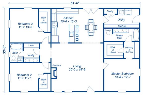 3 bedroom floor plan barndominium pinterest bedrooms for 3 bedroom barndominium floor plans