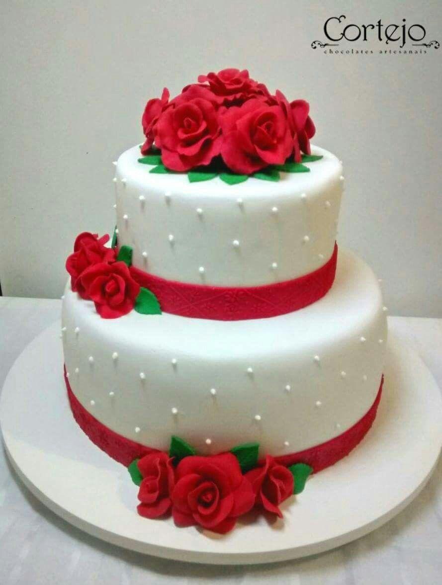 Facebook Cortejo Bolo De Casamento Vermelho Bolo De Casamento