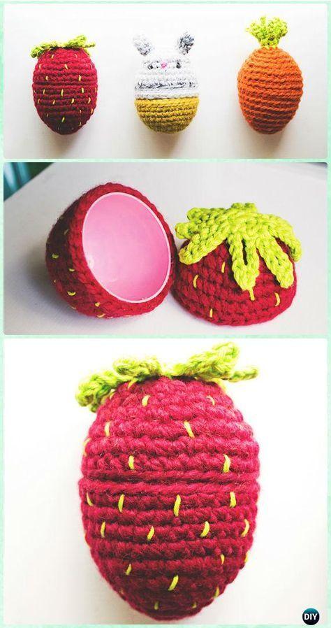 Amigurumi Bunny Food Eggs [Free Pattern] | Crochet | Pinterest ...