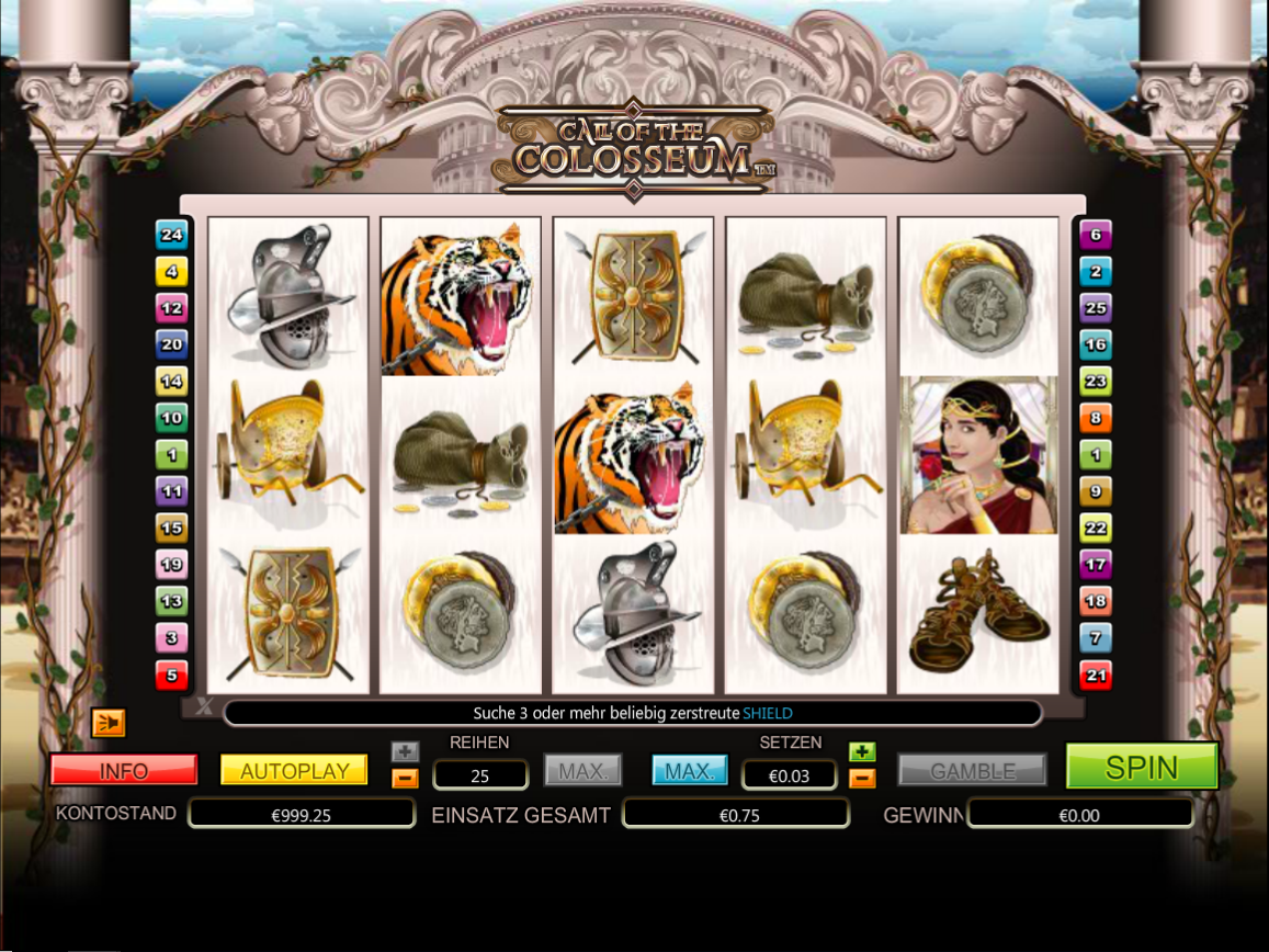 No Download Call of the Colosseum Slots