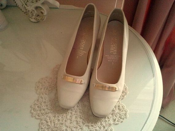 f048266690a Vintage Jacques Michel shoes from the 80s- Beige cream shoes- Elegant  office pumps- Formal shoes- Wedding guest shoes - Free shipping