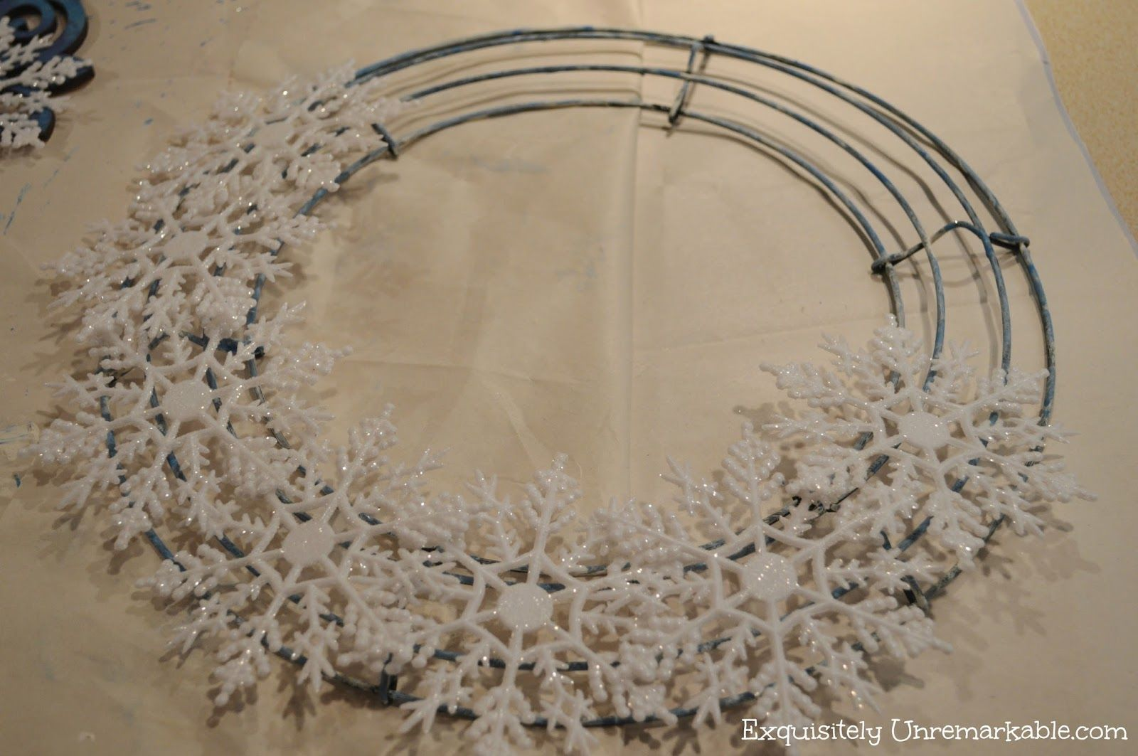 My After Christmas Blues ~ Snowflake Wreath by Exquisitely Unremarkable