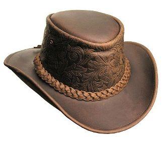 bb4e91d13d9b7 Leather cowboy hat