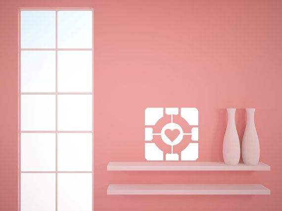 Portal Companion Cube Decal Version Decal By NewMetaMedia Wall - Portal 2 wall decals
