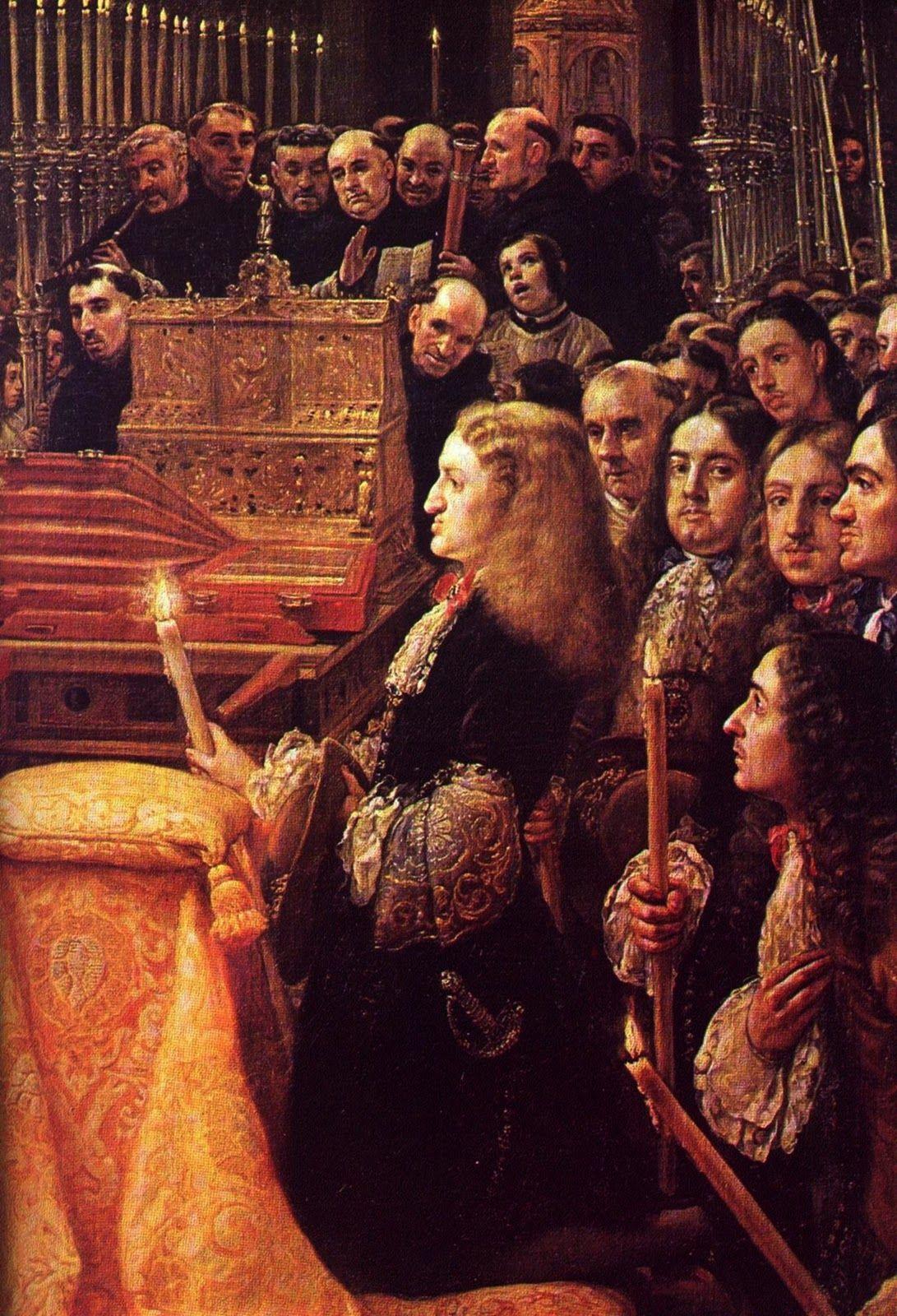 Carlos II, adorando. Claudio Coello