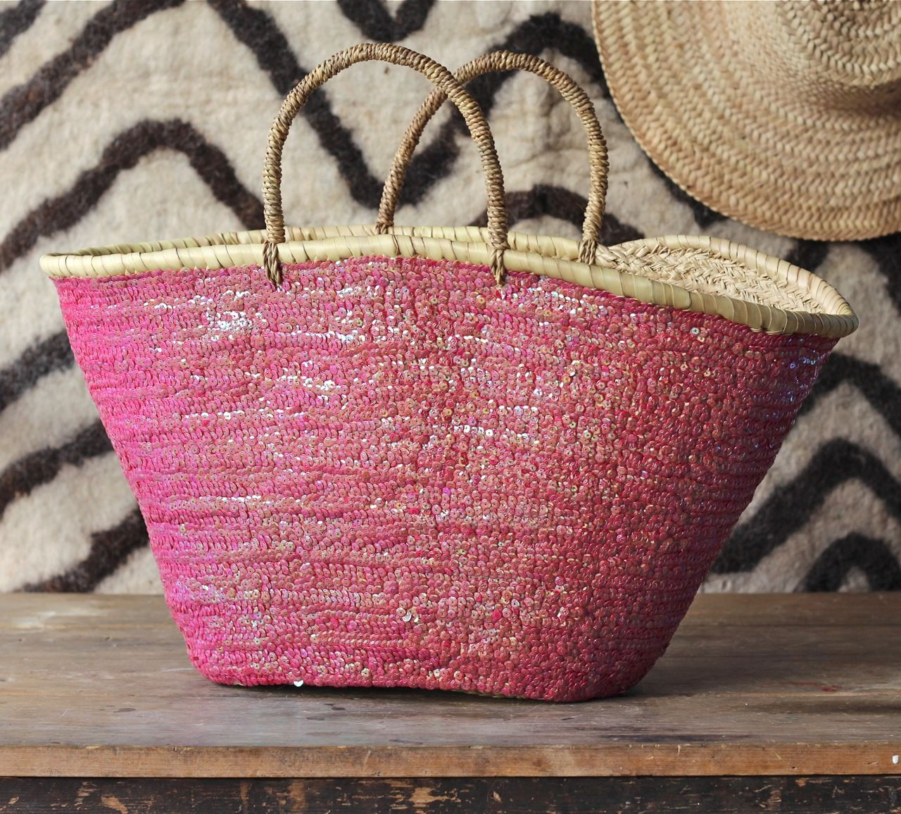 Sequin market basket