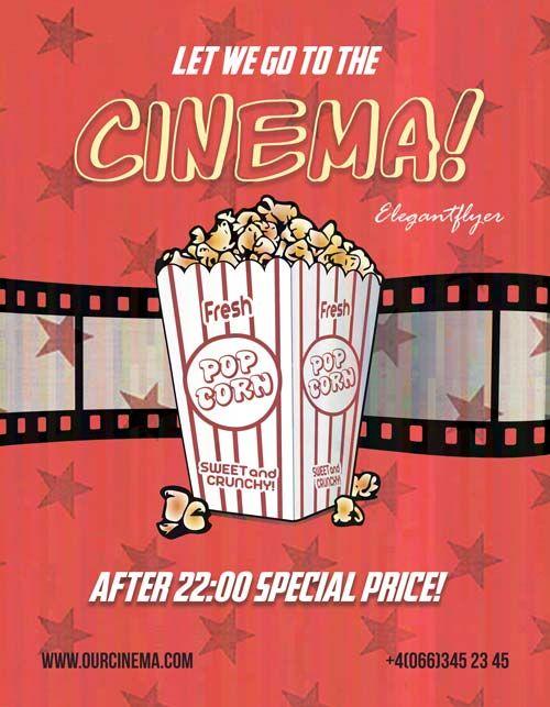 Cinema Time Free Flyer Template - http://freepsdflyer.com/cinema ...
