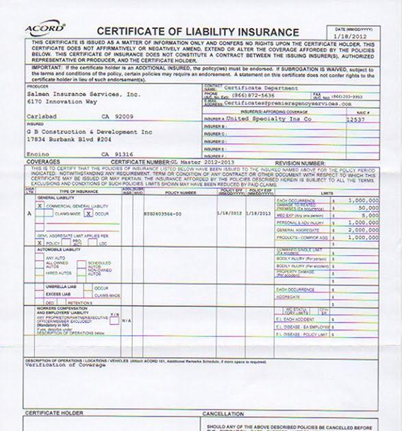 Liability Insurance Liability Insurance Template Liability Insurance Insurance Liability