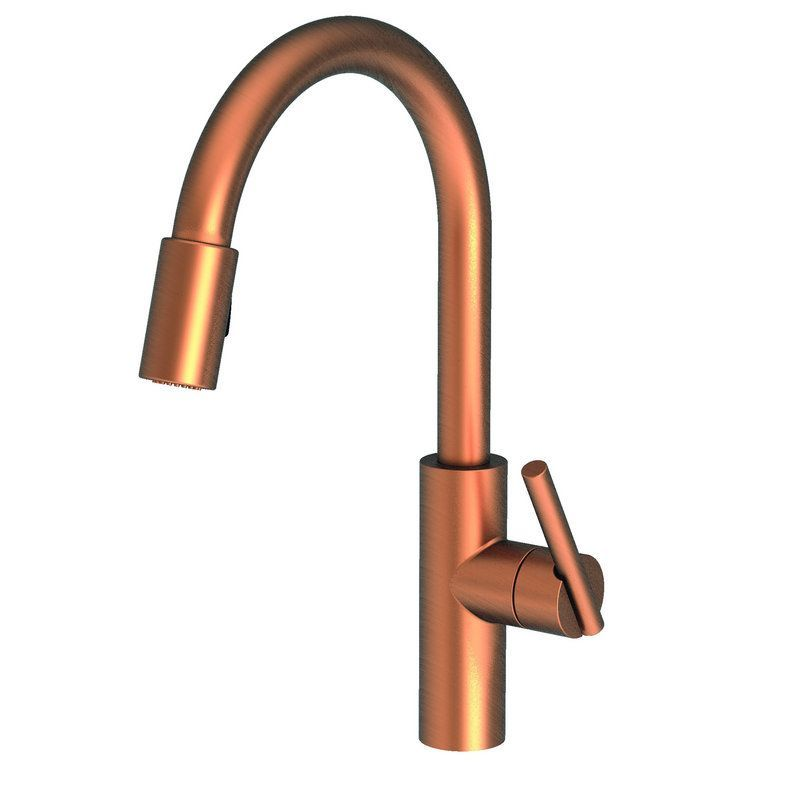 Newport Brass 1500-5103 East Linear Kitchen Faucet with Metal Lever ...