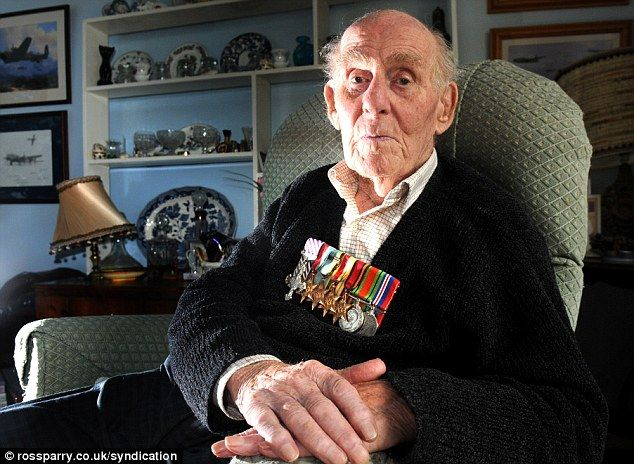 War hero: Rear gunner Freddie Johnson, 91, who has been denied a ticket to the unveiling of the £6.5million bomber command memorial