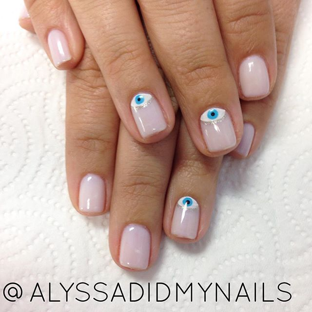 Evil Eye Nails Alyssadidmynails Evil Eye Nails Eye Nail Art Nails