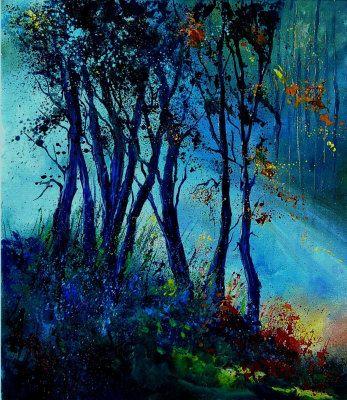 Misty Light in a Wood