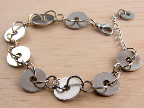 Link Bracelet Geometric Circle Hardware by additionsstyle on Etsy, $15.00