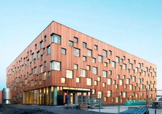Sweden S Umea Architecture Academy Punctuated With Pixelated Windows School Architecture University Architecture Architecture