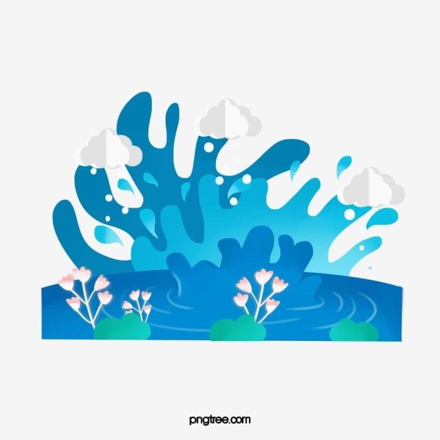 Cartoon Spring Water Splash Decoration Illustration Water Cartoon Splash Png Transparent Clipart Image And Psd File For Free Download Illustration Free Graphic Design Landscape Poster