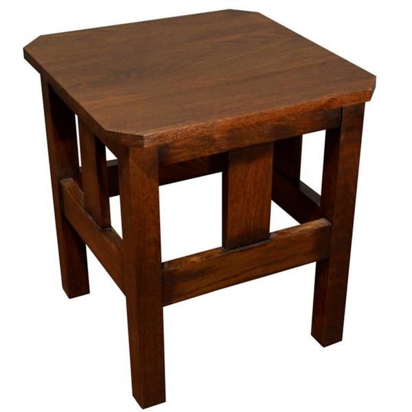 Mission Oak Slat End Table Walnut W1 With Images End Tables Craftsman Style Furniture Mission Oak