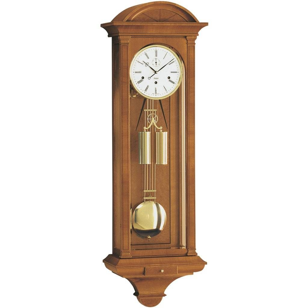 Kieninger Chesterfield 2542 82 01 Cable Regulator Wall Clock Westminster Chime Cherry Clock Wall Clock Antique Wall Clock