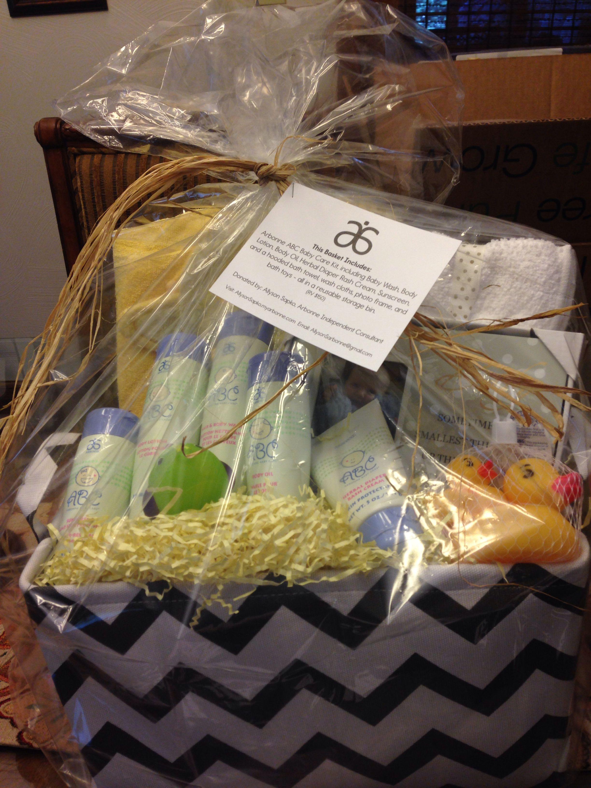 Arbonne Abc Baby Care Gift Basket For Fundraiser Shop