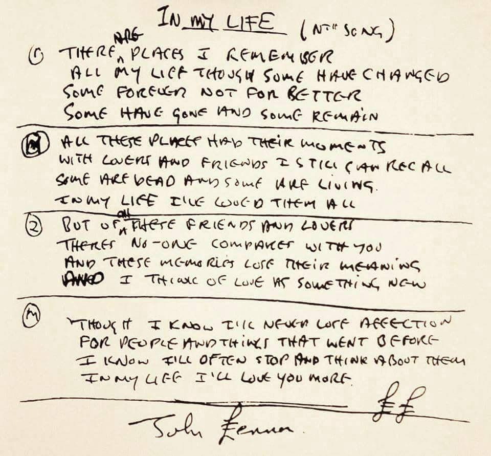 In My Life I Love You More John Lennon Lyrics Beatles