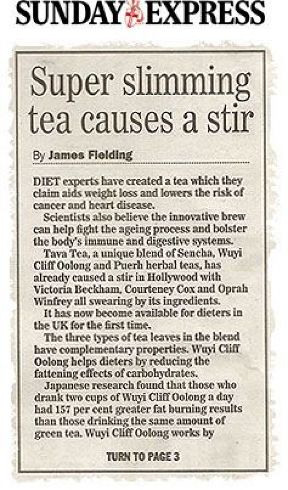 Tava Tea is made to provide weight loss. It is ac