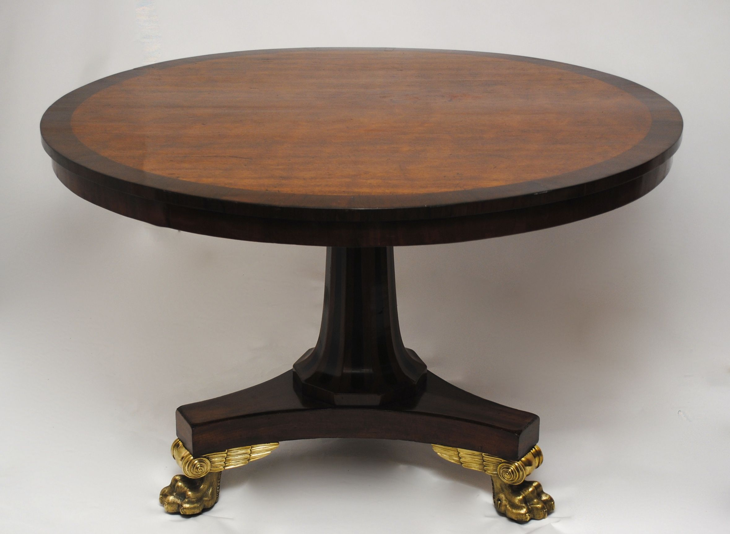 A Regency figured mahogany centre table circa 1810 possibly by