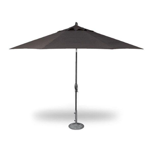 Treasure Garden 11 Auto Tilt Umbrella Anthracite With Canvas Coal Outdoor Seating Patio Outdoor Decor