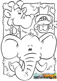 Cute Zoo Buscar Con Google Pintura Para Criancas Animais