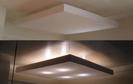 cremefarbene led-deckenleuchte sebatin aus stoff-deckenleuchten, Wohnzimmer