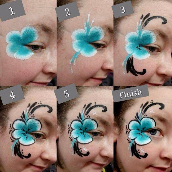 Flores Flowers #Facepaintingideas #facepaintforgirls #sideface